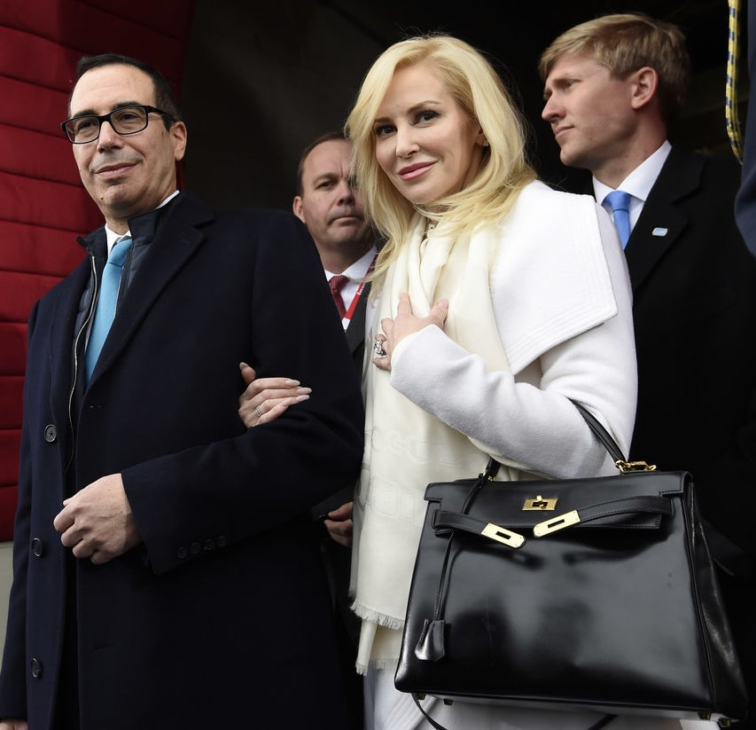 This is Louise Linton, actress and wife of US Treasury Secretary Steven Mnuchin.
