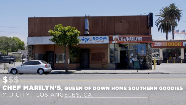The first stop on our journey was Chef Marilyn's, Queen Of Down Home Southern Goodies in Mid City, CA.