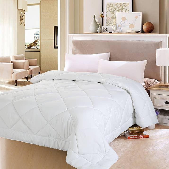 cowchickenpig com sets down fluffy big white comforter hypoergenic full