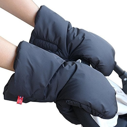 """Promising review: """"I love these. I leave them attached to the stroller handlebar all the time in the cold weather. They are big enough to slip my hands in and out of even when wearing my winter jacket, yet don't let any noticeable air in while I'm walking. Completely satisfied."""" –CKJPJGet them from Amazon for $19.99 (on sale from $59.99)."""