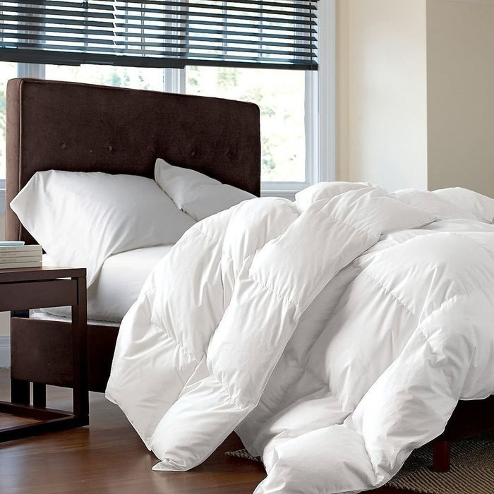 """Promising Review: """"This is an absolutely gorgeous thing. Very comfortable, light, and warm. My sleep hasn't been as good since I bought identical duvets back in Scandinavia."""" —Amazon CustomerGet it on Amazon for $109.95+ (available in three sizes)."""