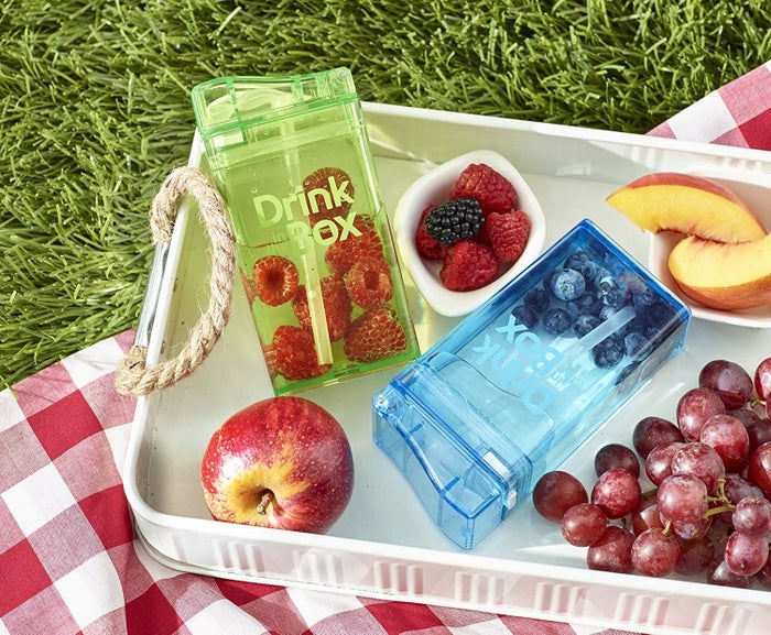 """It's a reusable container that allows the kiddos to drink something more fun than water, but gives you the ability to provide them with a healthier, low-sugar alternative.Promising Review: """"I purchased one of these for my child's lunchbox at the beginning of the school year. I love it, because I can dilute the juice with water, and it saves me a lot of money, because I no longer have to buy juice boxes at the grocery store. I wash it by hand in warm soapy water, and have never had any issues with leaking. I like this product so much that I just purchased one for my other child."""" —ALSGet it from Amazon for $11.99+ (available in five colors, and two sizes)."""