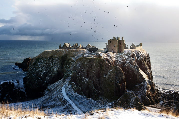 The Pyke we see in the series is pretty much entirely CGI, but this stunning castle is 100% real. It's Dunnottar, a ruined fortress on a well-defended headland in Aberdeenshire. The brave, crazy, battle-hungry Greyjoys would have loved it. They're practically Scottish, after all.