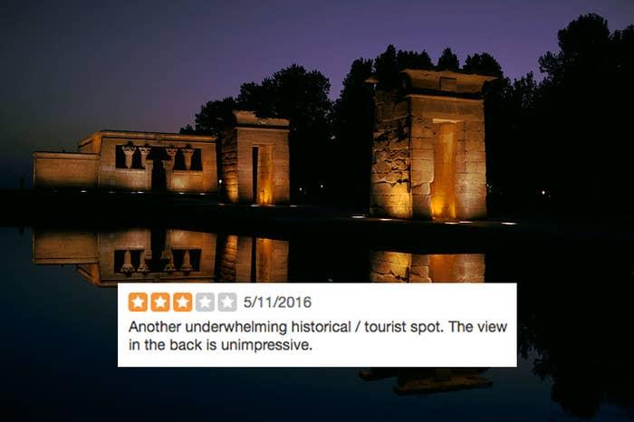 Otro destino histórico/turístico decepcionante. Las vistas en la parte de atrás son mediocres.