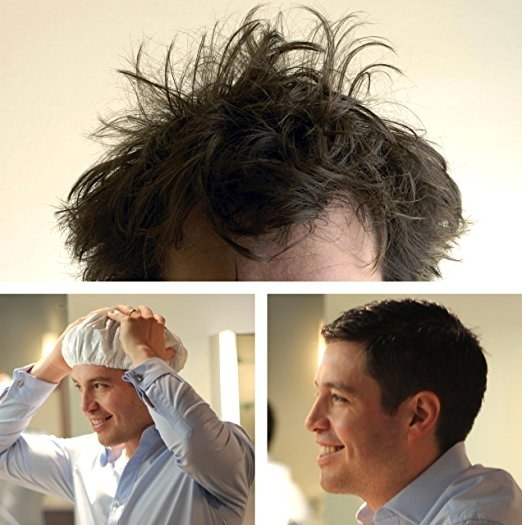 If you don't have time to do your hair in the morning try this Morninghead Cap.