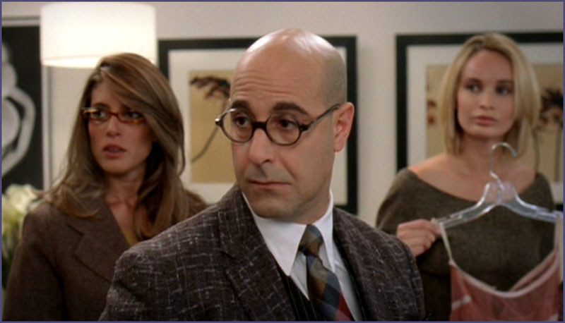 Nigel from The Devil Wears Prada (2006) has amazing sassiness and humor.