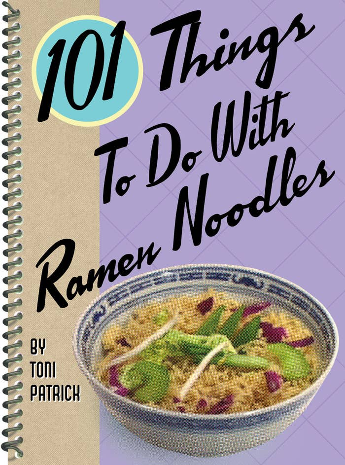 """Promising review: """"While you probably shouldn't cook from this book every night, when times are tough and you're looking for cheap inspiration, this book is awesome. Who knew you could do soooo much with a simple dried noodle package?! The book is a small, thin size packed with creative ways to transform a simple dish. It's spiral wire-bound, which is great for keeping the recipe open on the counter while you're prepping and preparing. I actually originally bought this for my sister as a joke because she is obsessed with Ramen Noodles, but I was surprised by its flexibility and ideas, and ended up keeping it for myself!"""" —AmyRiger Get it from Amazon for $4.86.Want to spend $0? Check out some of our creative ides for ramen here, here, here, and here!"""