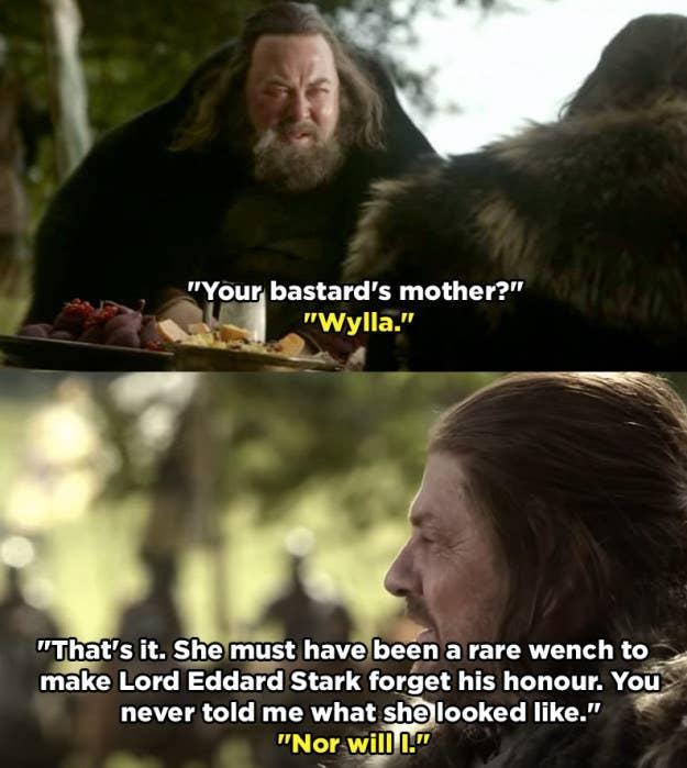 Роберт предполагает, что это из-за Неда вины за то, что делаете что-то бесчестно (неосознанно укрепляют идею, что, на самом деле, нед никогда бы не сделал что-то подобное), но мы знаем, что нед никогда не говорили с Робертом о Jon мать, потому что он и есть причина истины должны быть скрыты.