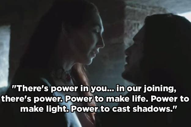 Ты знаешь, как тень малыша она сделала со Станнисом, а именно то, что требуется кровь короля.