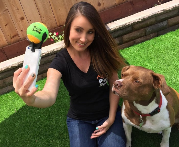 "Promising Review: ""This is such a great product! I am constantly taking pictures of my dog, Max, and he is rarely ever looking directly at the camera. Since receiving this product, I have not taken a single picture of Max without him looking directly at me (or should I say the squeaky ball at the top of my phone!)."" —Dishy24Get it on Amazon for $12.99."