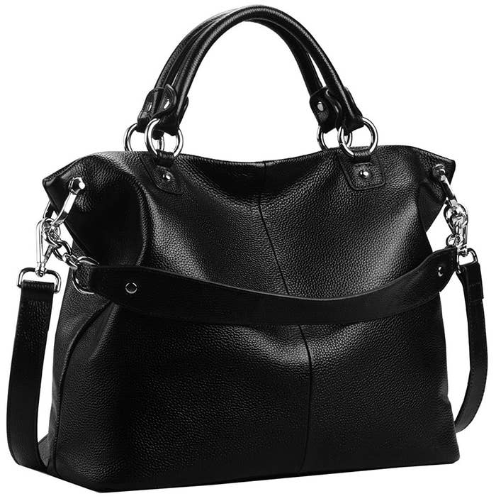 Promising Review This Is A Beautiful Tote Stunning Soft Black Leather With