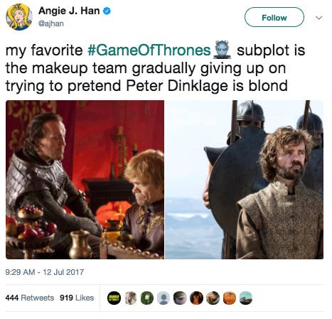 here are all the funniest tweets about game of thrones season 7