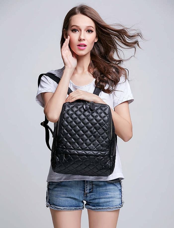 d194d220d5b0 A quilted backpack for an attractive alternative to a purse.