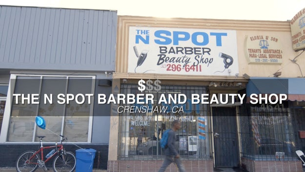 Our first location was The N Spot Barber And Beauty Shop in Crenshaw, CA. Here, Alex would get a classic fade for $15.