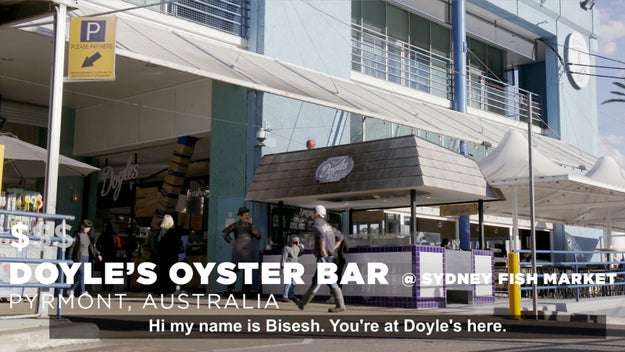 Our first stop was Doyle's Oyster Bar at Sydney Fish Market.