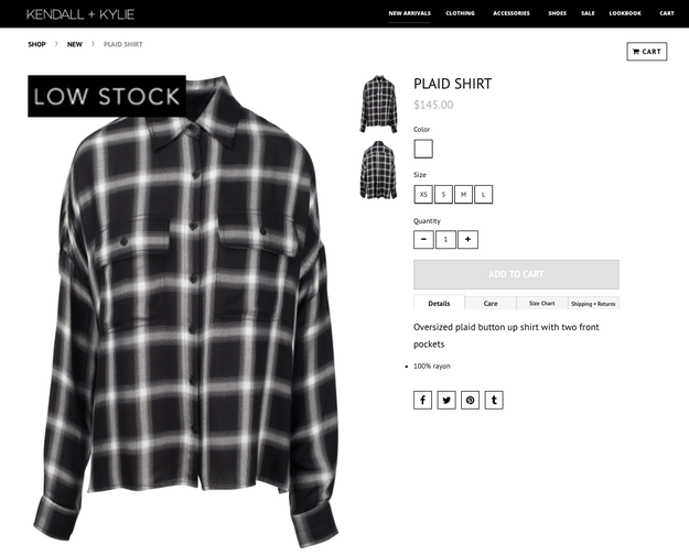 And just to clarify, it's not the $145 oversized plaid shirt that has people giving the sisters the side-eye...