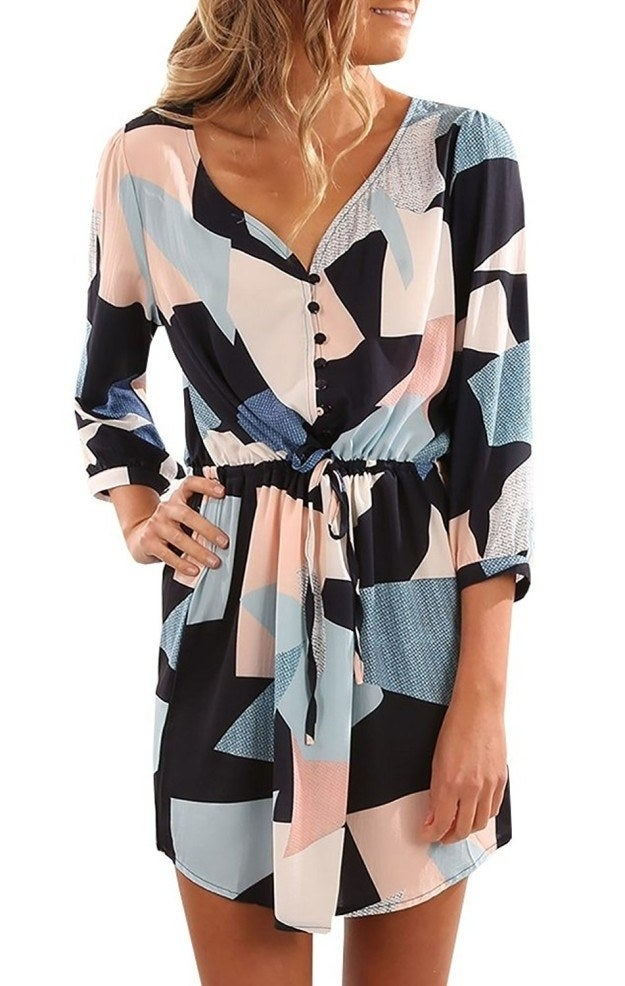 """Promising Review: """"This dress is made very well. The fabric is very soft and stretchy, and the color is true to description. It's also not tight around the waist and is very forgiving."""" —Charles F Mitchell Jr.Price: $13.98+ (sizes S–2XL)"""