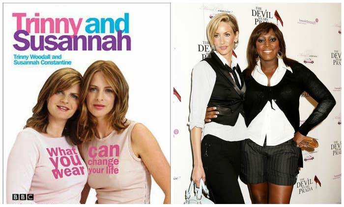 The British versions of Stacy and Clinton are Susannah Constantine and Trinny Woodall. They hosted the first five seasons, and then Lisa Butcher and Mica Paris took over as cohosts for the final two seasons.