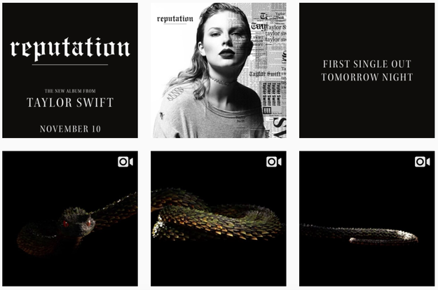 The accounts have been slowly filling up again with new content related to Swift's upcoming album, Reputation. But so far, it's all promotional material, a far cry from the more personal tone Swift's social media presence used to strike.