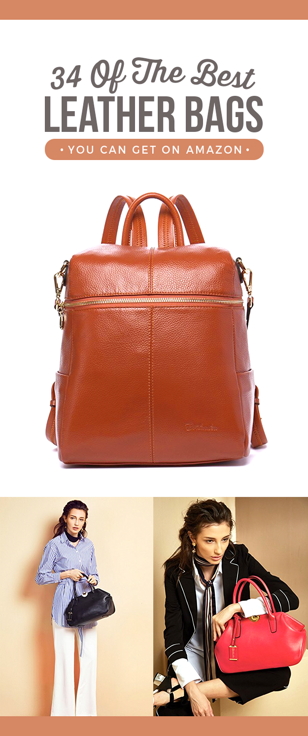 34 Of The Best Leather Bags You Can Get On Amazon