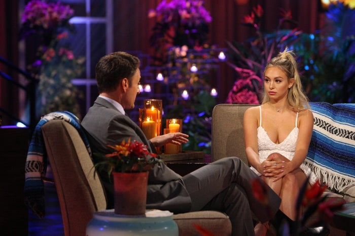 Chris Harrison and Corinne Olympios.