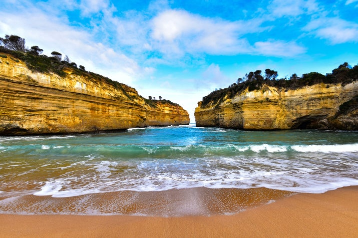 This majestic spot along the Great Ocean Road is close to the Twelve Apostles. The gorge forms a small inlet of water that you can access through established walking trails.