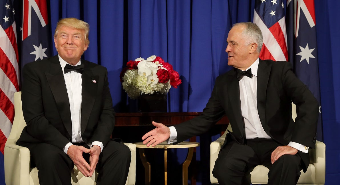 Donald Trump and Malcolm Turnbull in New York City in May.