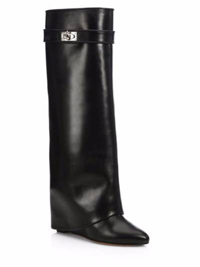 2c7151de193 These Givenchy  Shark Lock  knee-high boots with a hidden wedge so that you  might actually wear them around all day.