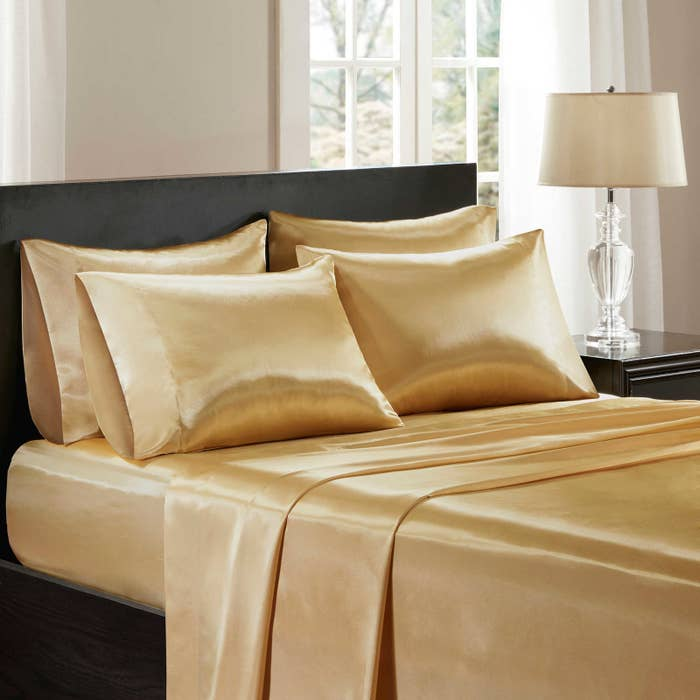 """Promising Review: """"Absolutely love these sheet sets. They keeps me cool throughout the night in the summer."""" —MommaGet them on Bed Bath & Beyond for $29.99+ (available in four sizes)."""