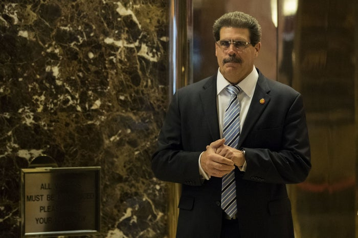 Matthew Calamari, an executive vice president with the Trump Organization, stands in the lobby at Trump Tower, Jan. 12, 2017 in New York City.
