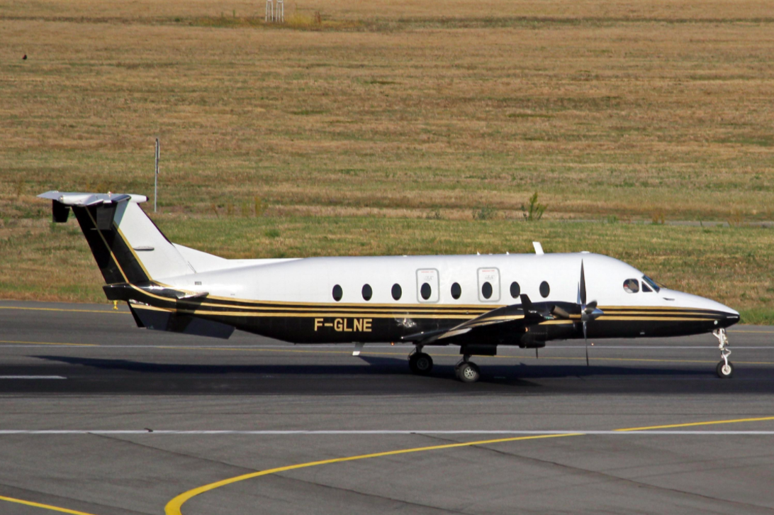 Photo d'archive d'un des avions loués par le Ministère de l'Intérieur, immatriculé F-GLNE.