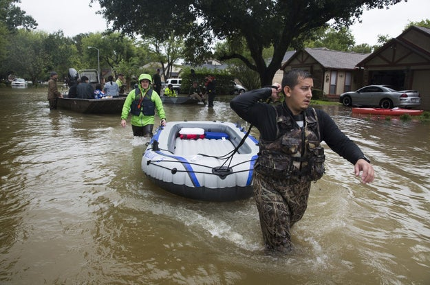 Amid the devastation wrought on the city of Houston by flooding from Tropical Storm Harvey, people are stepping to the plate to help others in incredible ways.