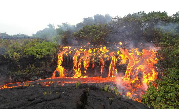 DID YOU KNOW: Lava is so hot that it can literally explode when it hits ocean water.