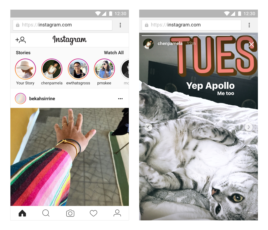 Stories are coming to Instagram on the web