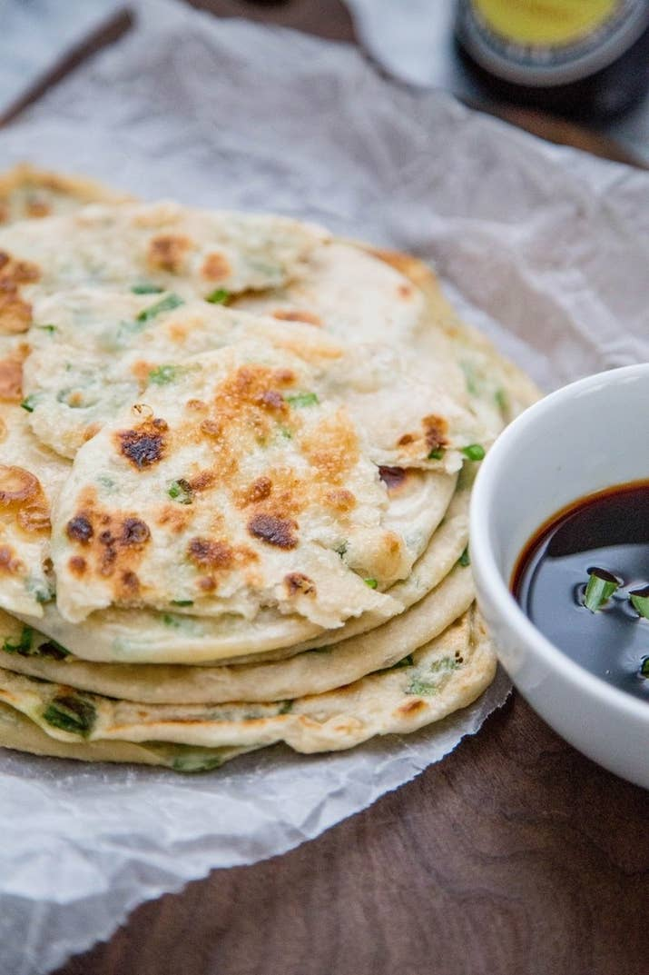 You've probably tried these savory pancakes as an appetizer at your favorite Chinese restaurant. But you might be surprised to learn you can make them at home with just four ingredients (plus water and salt). Get the recipe.
