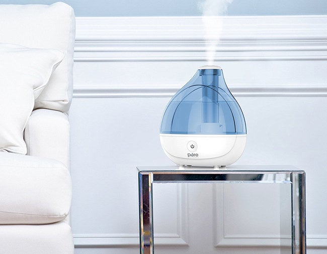"""Plus, it has an auto shut-off option, so you don't have to worry about it running once the water gets too low. Promising Review: """"This humidifier is wonderful. I sleep better and when I wake up my nose is no longer dried out and my headaches have gone away. It really adds moisture to the air."""" —AprilGet it from Amazon for $39.99."""