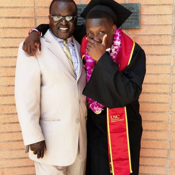 Omete with dad Enock