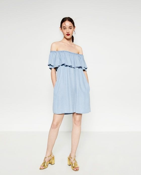 Zara Best-Selling Dress Is Back In Blue And It Is Perfect For Autumn