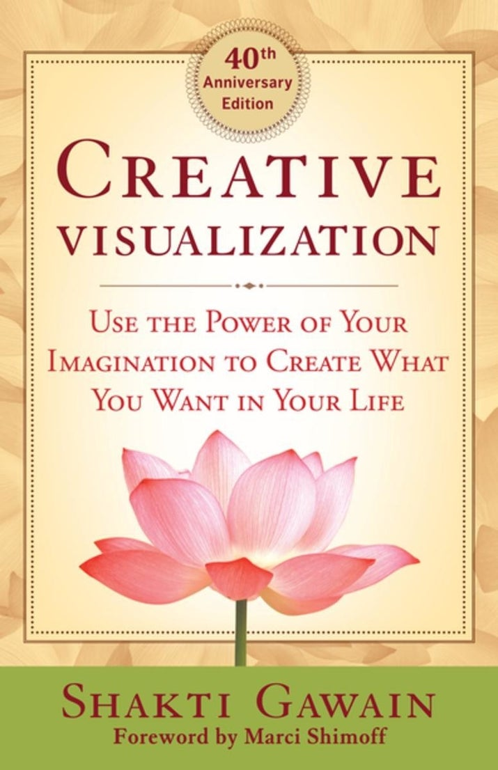 """What it's about: This book is the Holy Grail of creative visualization books. It explains the basics of visualization in a non-frilly, educational manner and is a great place to start if you're new to the practice. Promising review: """"This book is small but very rich in its content, not a single page of filler. This is the only book on the law of attraction you will ever need. It's very detailed and contains many easy to use meditations and exercises to help you attain your goals."""" – jsieli"""