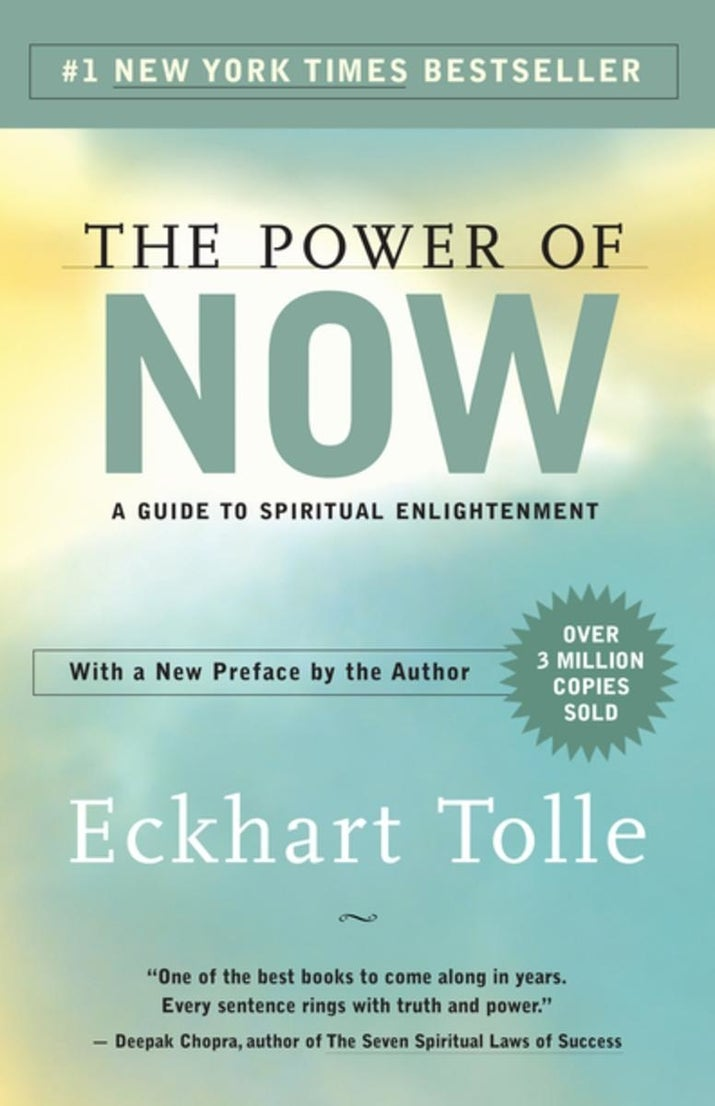 """What it's about: Acting as a guide to enlightenment, this book explains the vast benefits of being present. Promising review: """"I am not exaggerating when saying this: This book will truly change your life. This should be required reading for everyone. If that was the case, there definitely would be world peace."""" – Edward Ramos"""