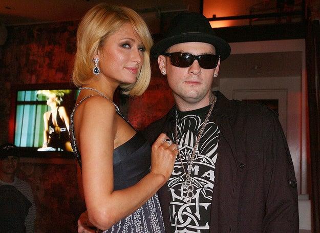 Paris Hilton and Benji Madden.