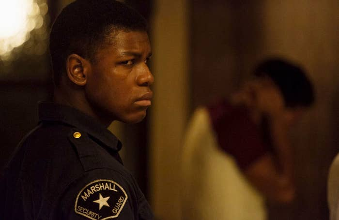 John Boyega as security guard Melvin Dismukes.