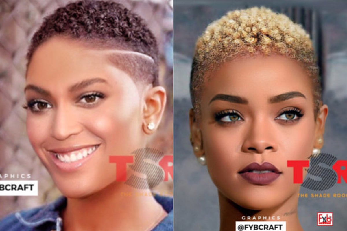 These Celebs Were Photoshopped With Short Natural Hair And They Look So Damn Good