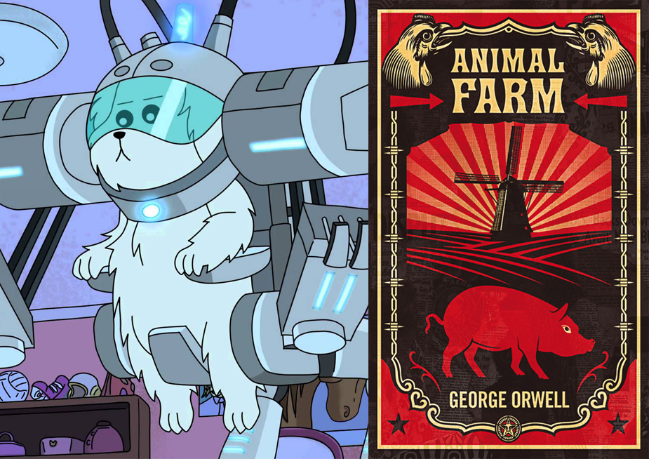 an overview of the dictatorship in the novel animal farm by george orwell