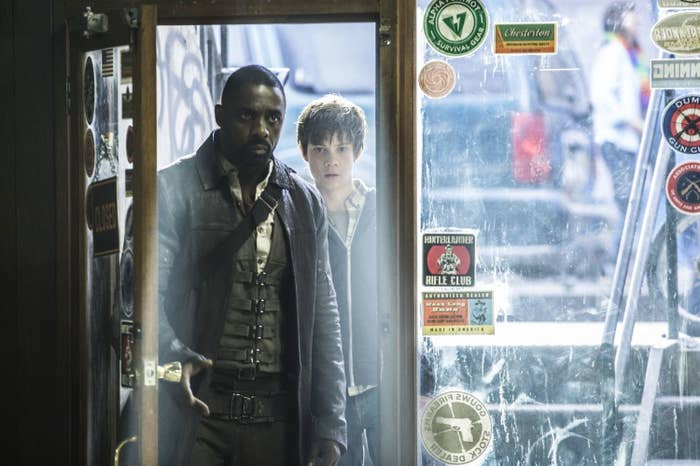 Idris Elba and Tom Taylor in The Dark Tower.