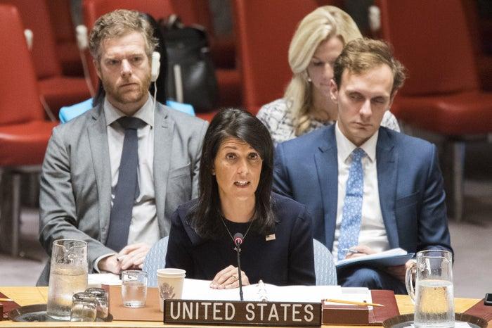 US United Nations Ambassador Nikki Haley in June.
