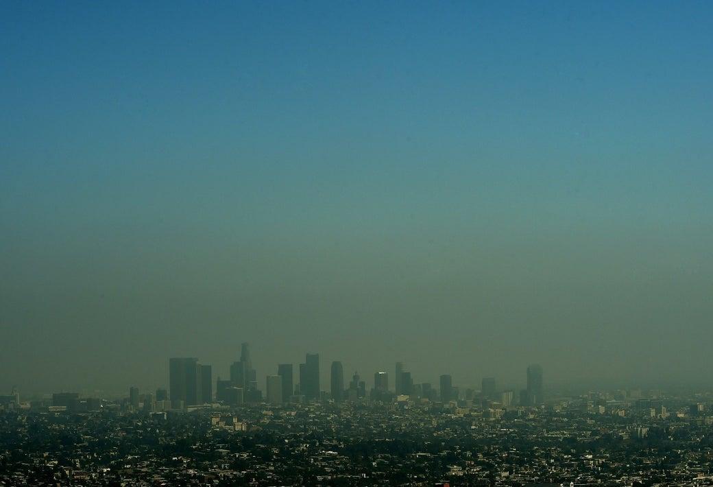 Los Angeles smog in 2015.