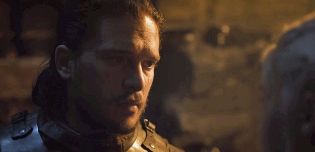 Dany's question clearly resonated with Jon. I mean, just look at his face after he heard what she said.