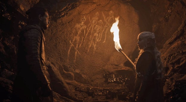 One major moment you may have missed happened during the conversation between Daenerys Targaryen and Jon Snow in the cave.