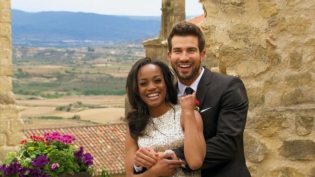 Last night on the finale of The Bachelorette, Rachel Lindsay chose Bryan over Peter, and the couple got engaged.